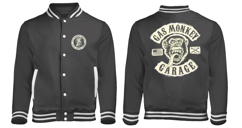 veste nouvelle Gas baseball style Logo Monkey Garage Iw867